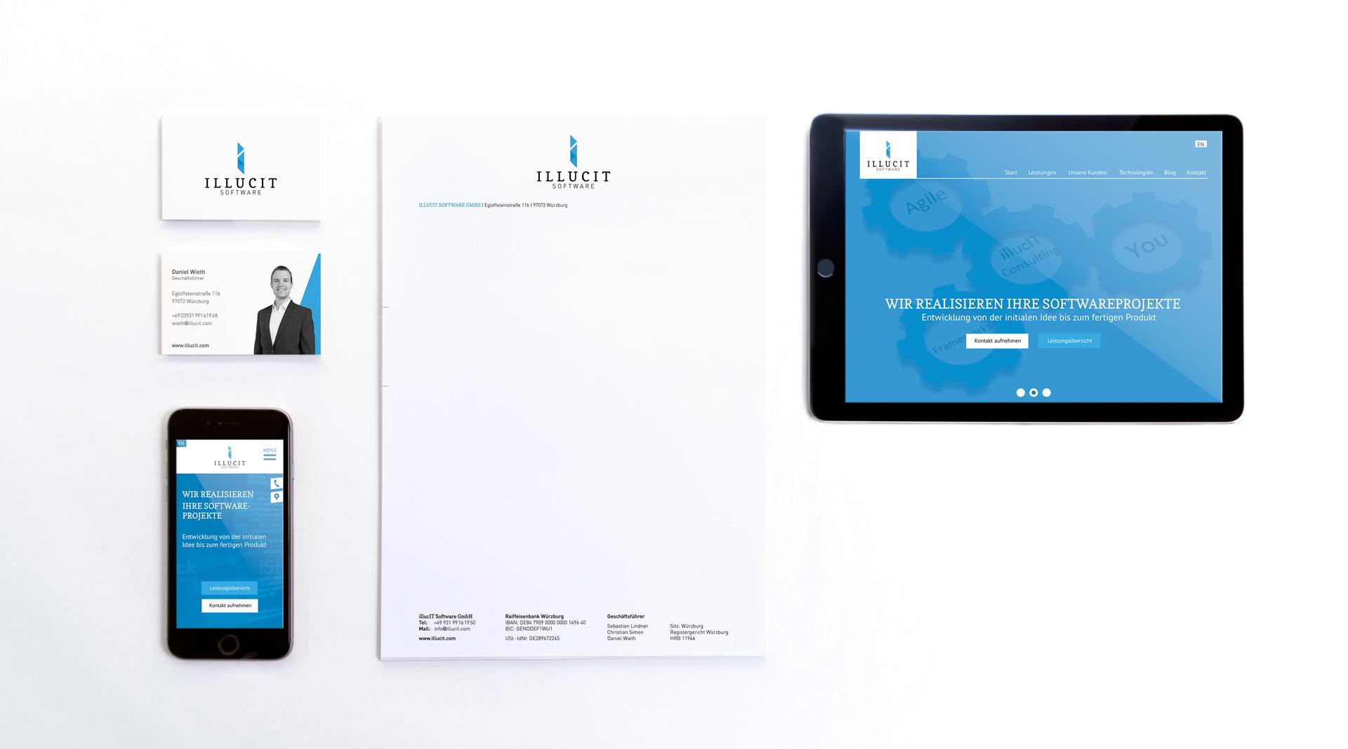 Illucit Software Würzburg Webdesign Markenkreation jo's büro für Gestaltung