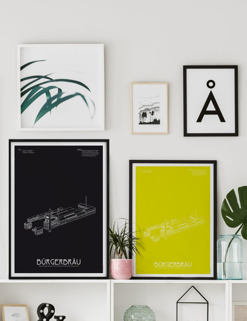 poster b rgerbr u w rzburg schwarz oder colored jo 39 s b ro f r gestaltung designb ro w rzburg. Black Bedroom Furniture Sets. Home Design Ideas