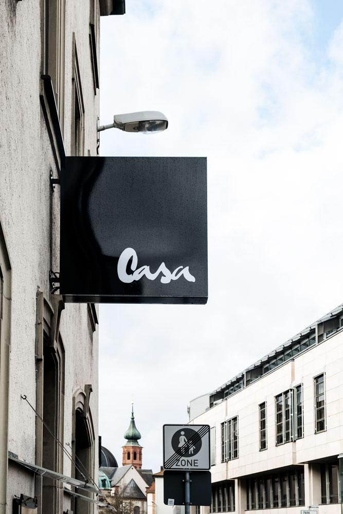 Casa Markenkreation Logo Café Würzburg Eis Kaffee Gestaltung jo's büro für Gestaltung