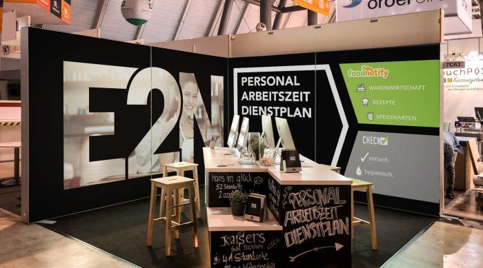 Messedisplay E2N, Messedesign, Display für Messe jo's büro für Gestaltung Designbüro Würzburg