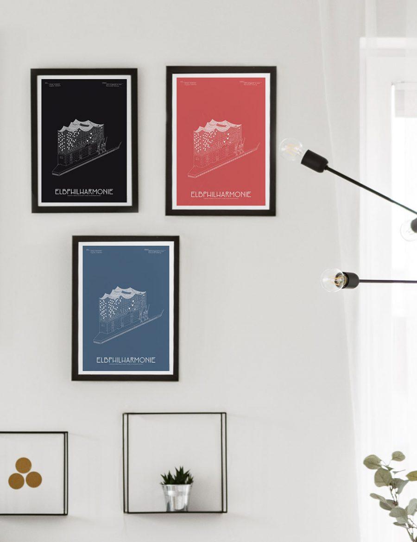 elbphilharmonie hamburg architektur poster