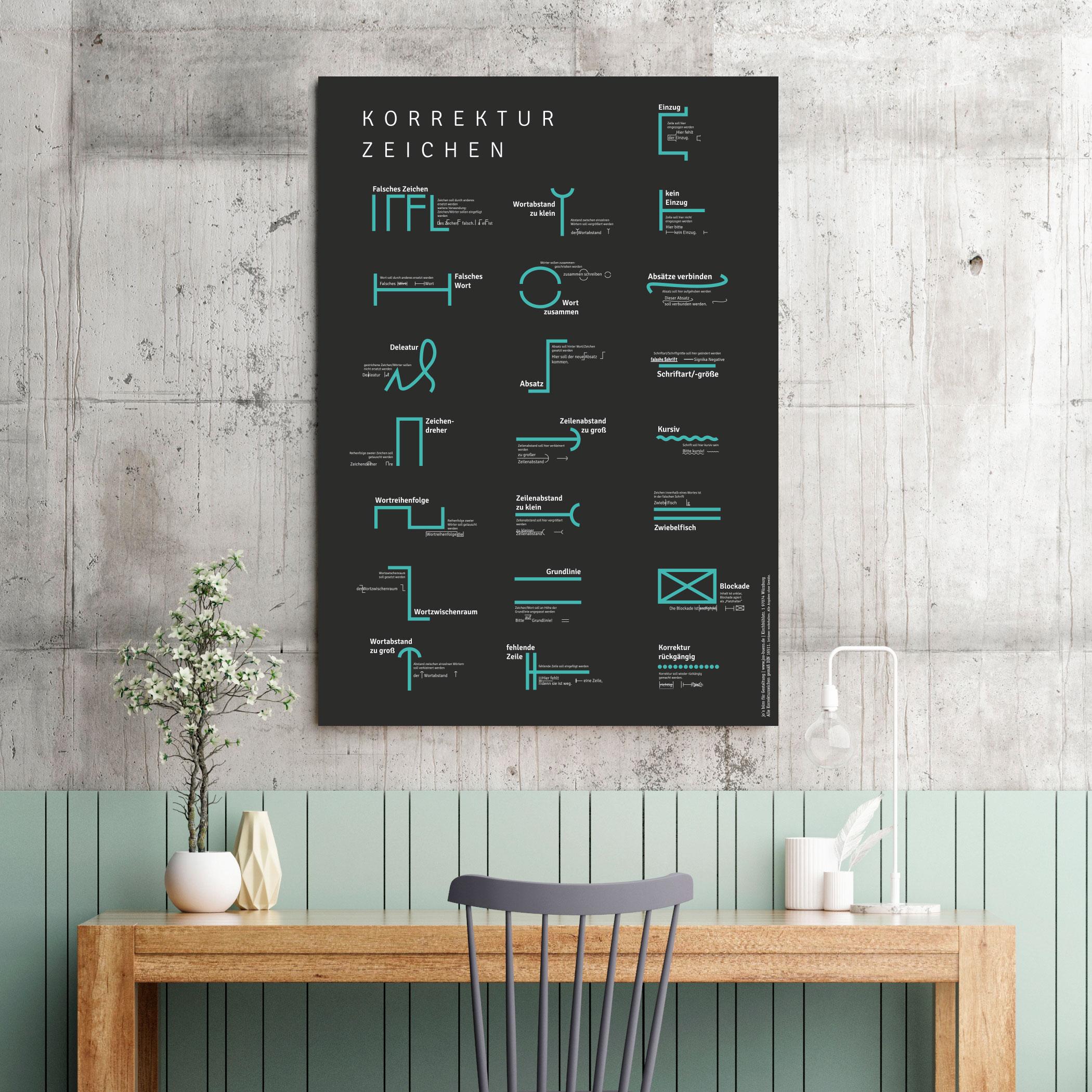 Printshop Poster Korrekturzeichen