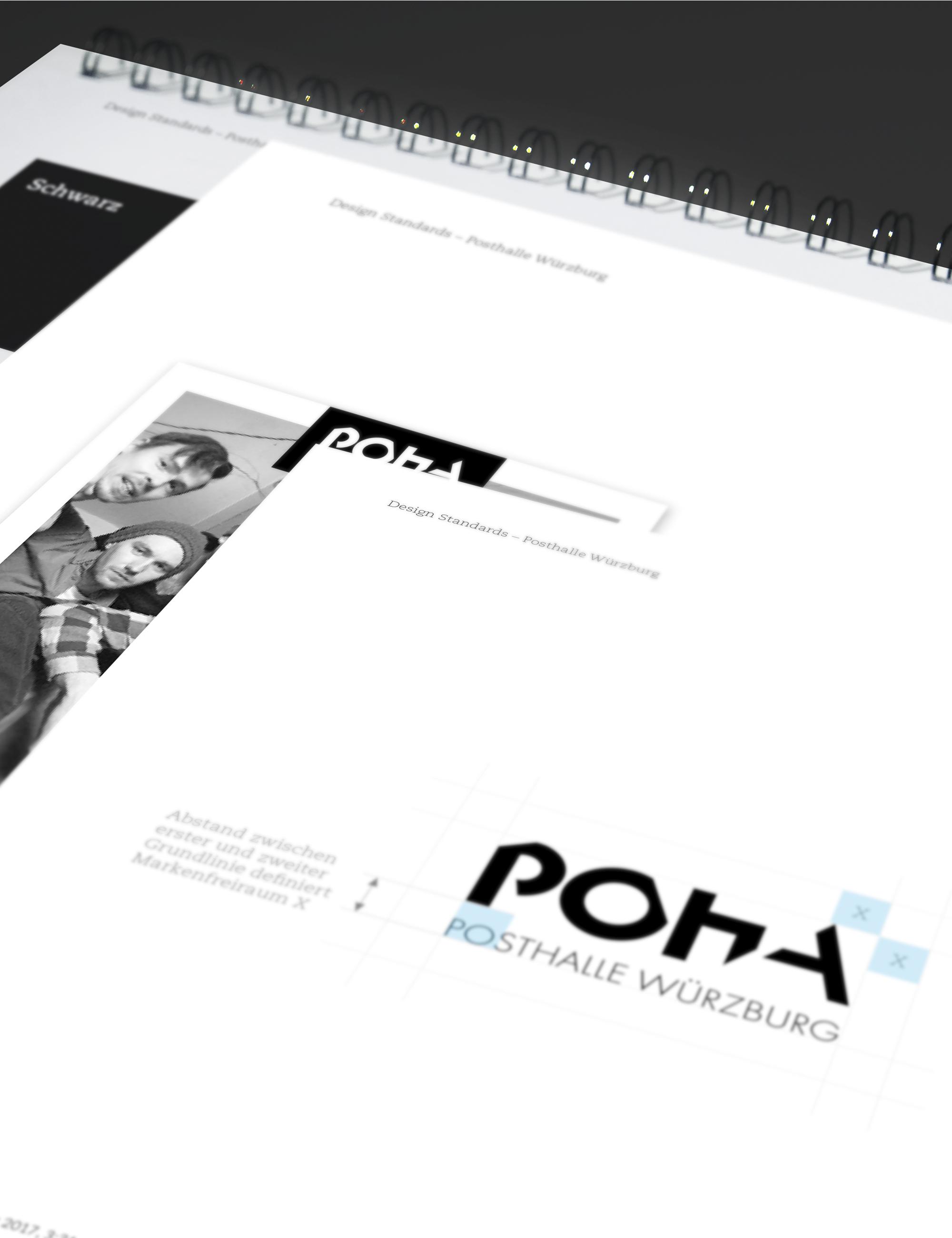 Posthalle Würzburg Logo Styleguide Markenkreation jos büro für Gestaltung Designbüro