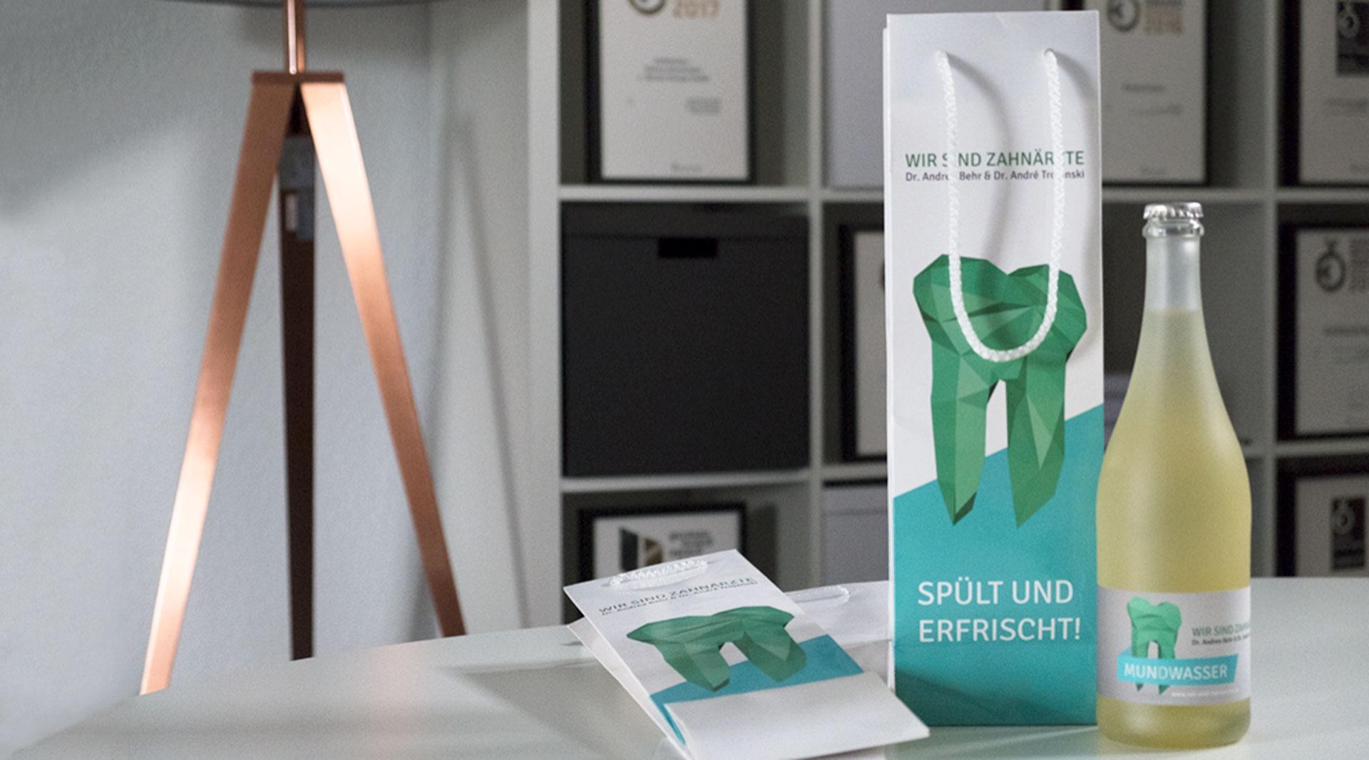 Verpackungsdesign Würzburg Zahnarzt Design