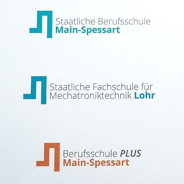 Markenkreation Berufsschule Main-Spessart Logo jos büro für Gestaltung