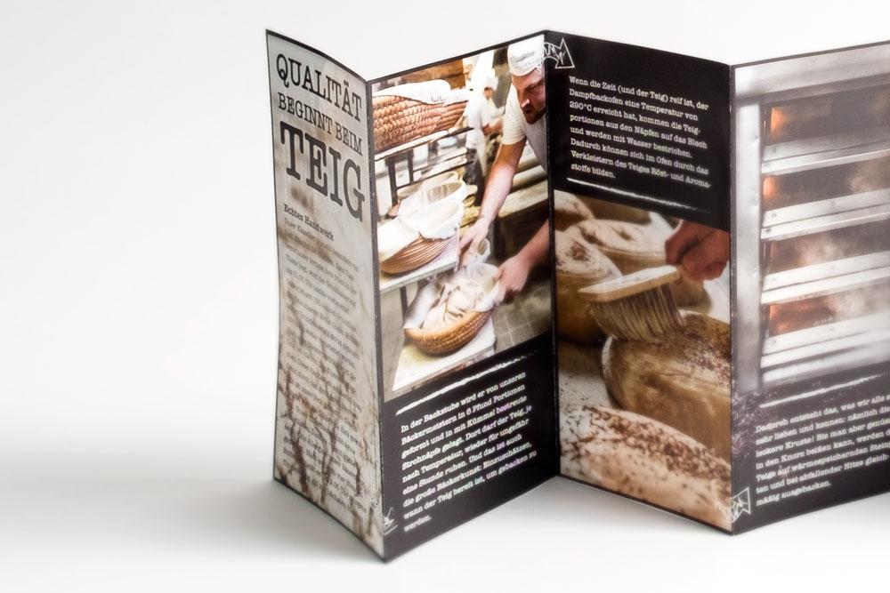 Bäckerei Schiffer Würzburg Brotguide Leporello Flyer Corporate Design Editorial Design jo's büro für Gestaltung