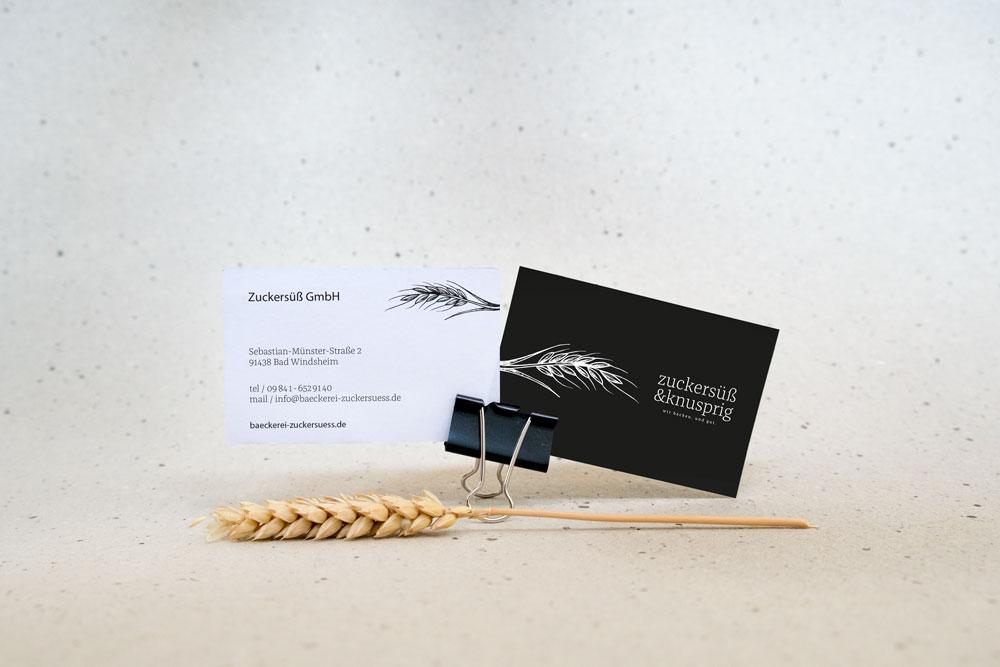 Bäckerei zuckersüß und knusprig wir backen. und gut. Bad Windsheim Corporate Design Grafik Design Logo Markenkreation jo's büro für Gestaltung Würzburg