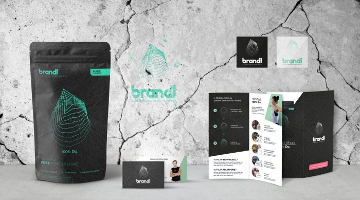 brandl – your personal sports nutrition Corporate Design Packaging Verpackungsdesign Logokreation Markenentwicklung Webdesign Screendesign jo's büro für Gestaltung