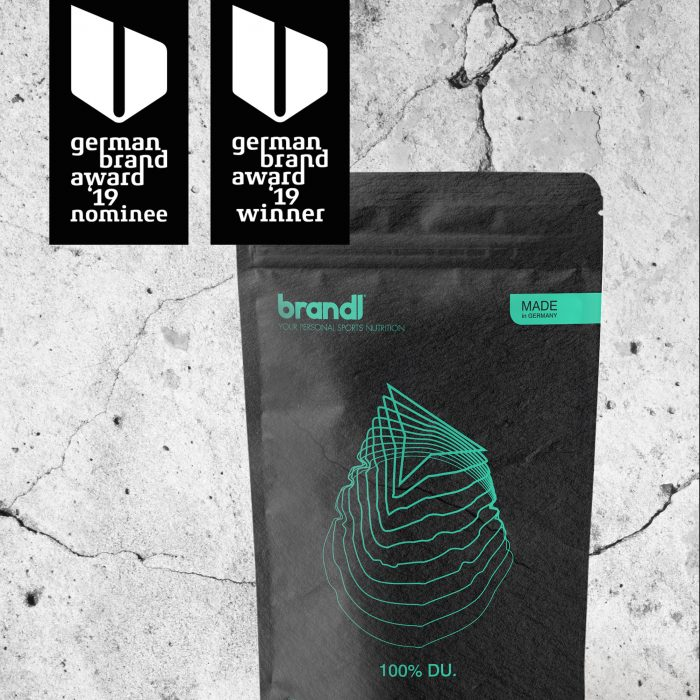 Brandl Nutrition Packaging Mockup German Brand Award Winner 2019 jos büro für Gestaltung Würzburg