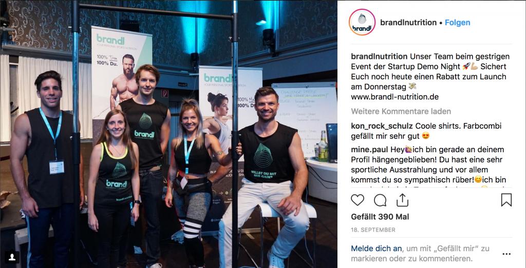Brandl Team Startup night nürnberg