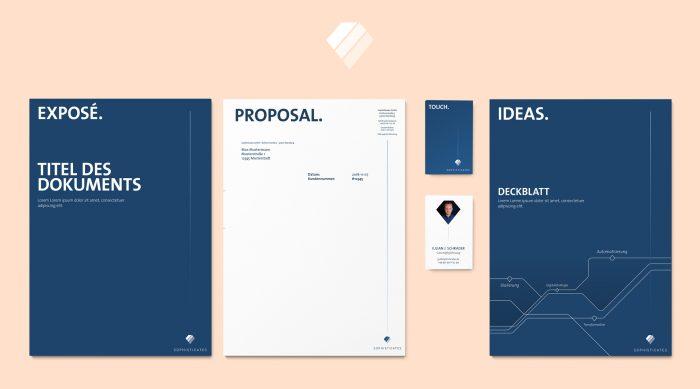 Corporate Design Sophisticates – Software und digitale Strategie Würzburg jo's büro für Gestaltung Markenkreation Design