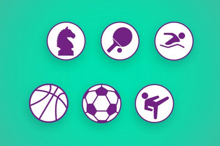 Icon Symbole Webdesign TSV Grombühl Würzburg Sportverein Ehrenamt jo's Büro für Gestaltung