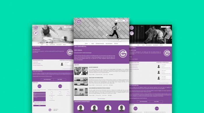 Webdesign TSV Grombühl Würzburg Sportverein Ehrenamt jo's Büro für Gestaltung