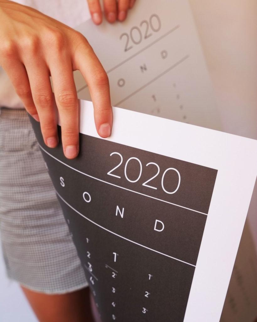Kalender 2020 beidseitig Design