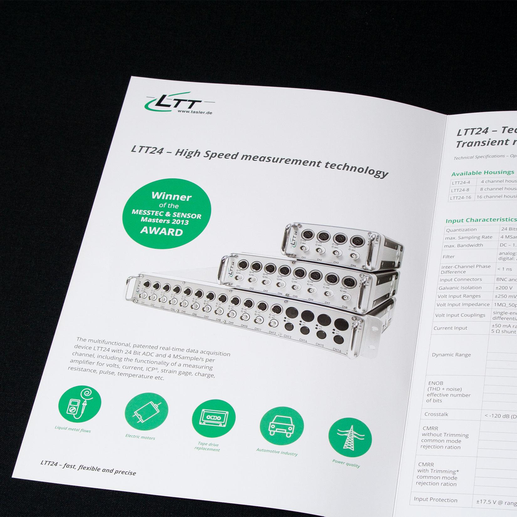 Labortechnik Tasler Broschüre Design