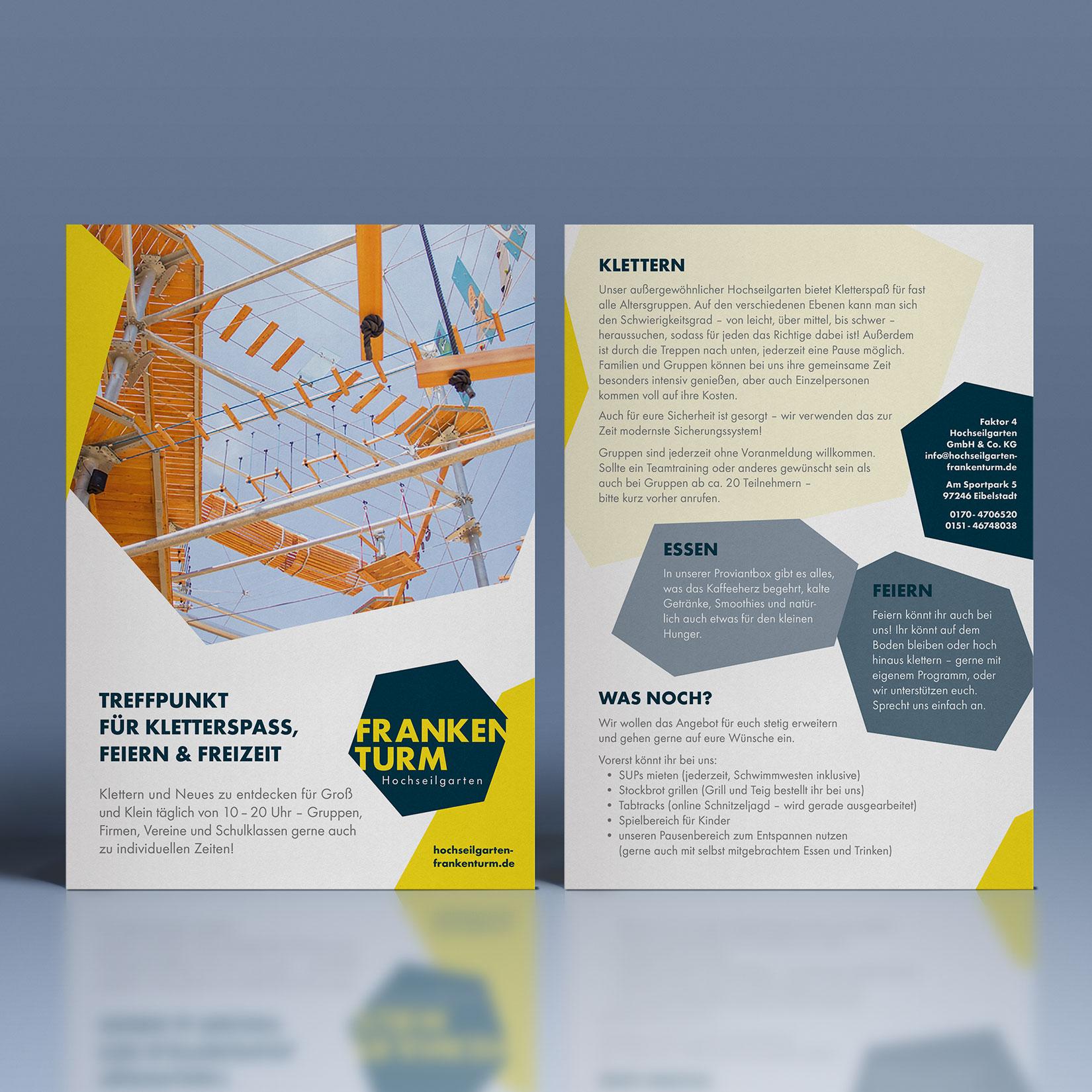 Hochseilgarten Frankenturm Corporate Design Flyer