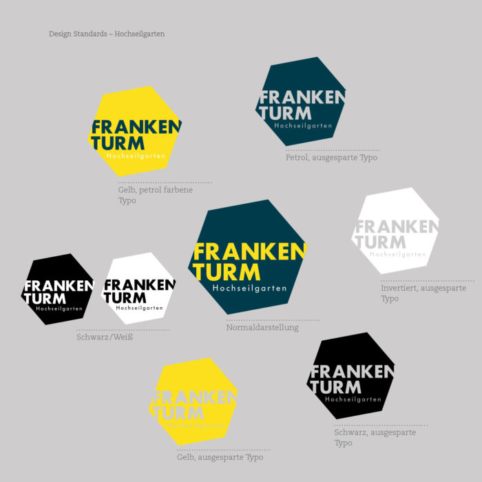 Hochseilgarten Frankenturm Corporate Design Logo
