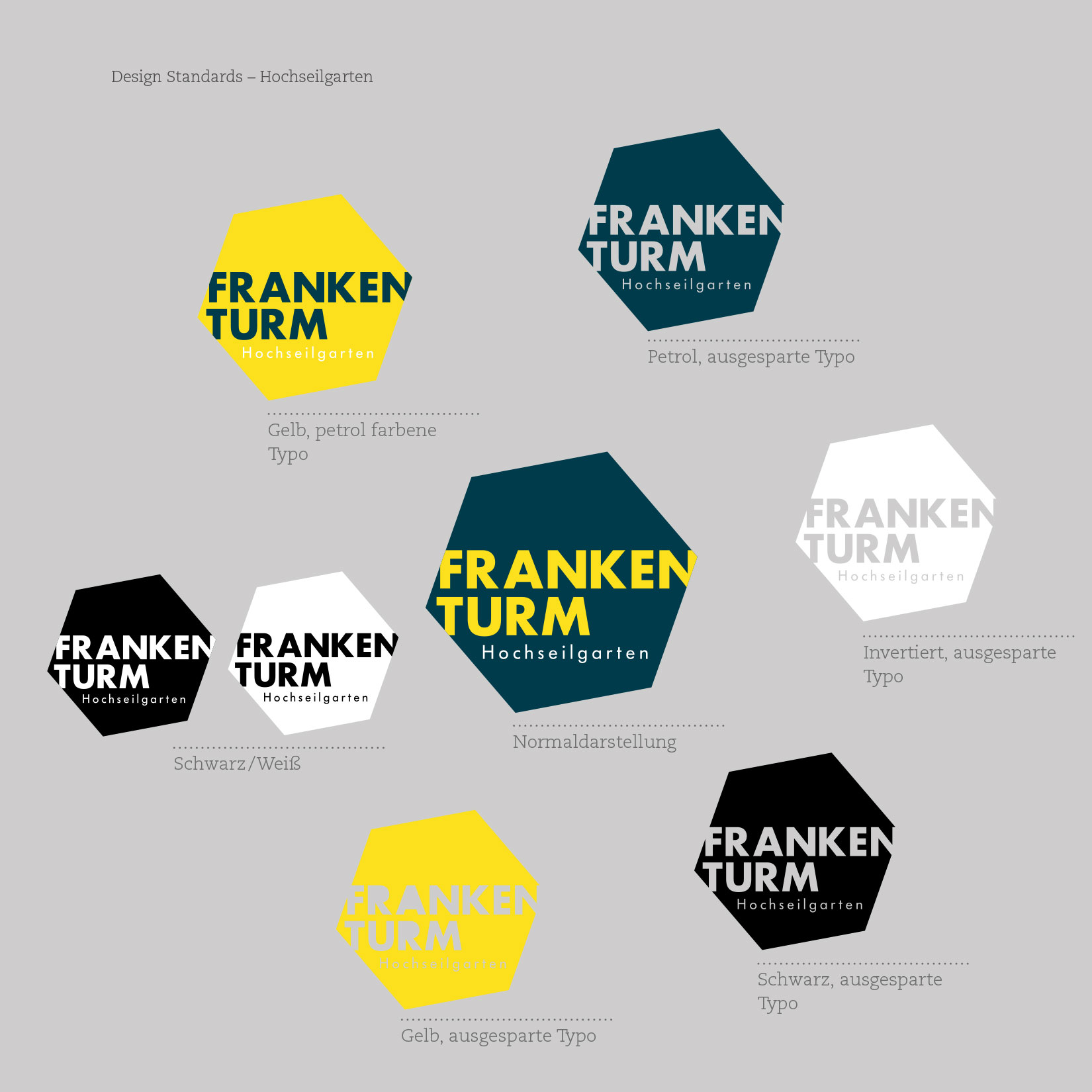 Hochseilgarten Frankenturm Corporate Design Logo