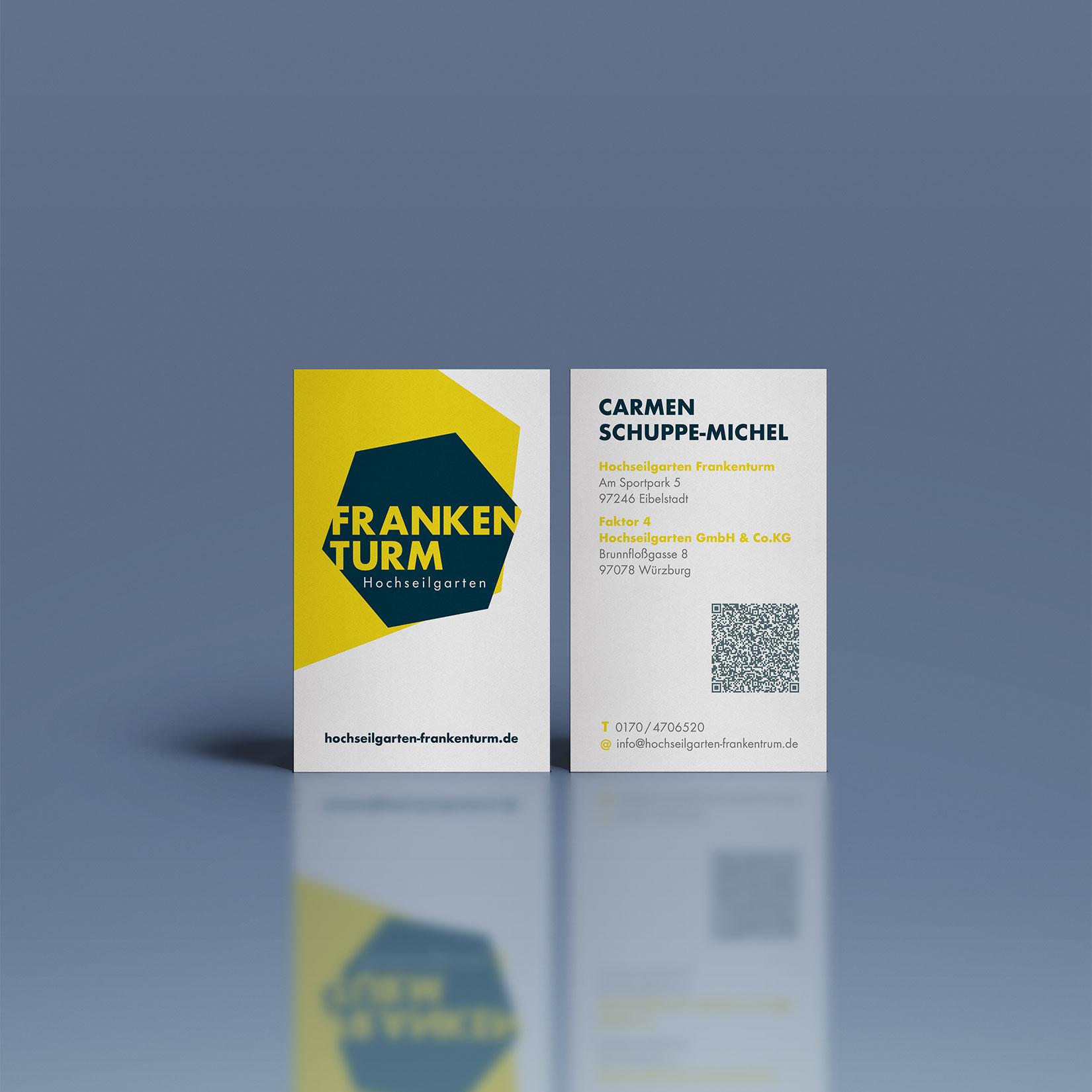 Hochseilgarten Frankenturm Corporate Design Visitenkarten