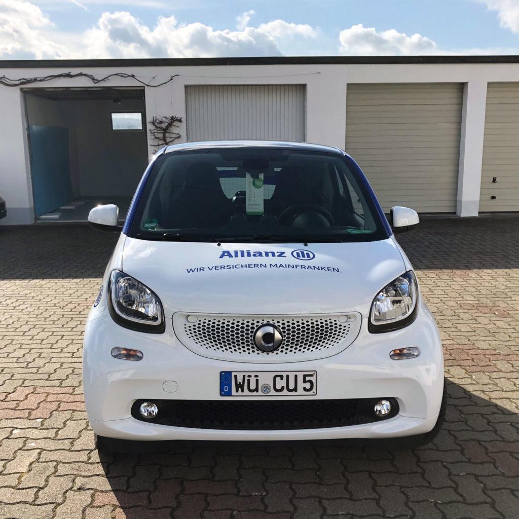 Allianz Autobeklebung Vorderansicht