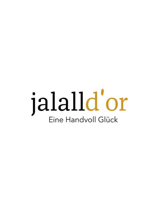 Jallal D'or Logogestaltung Dreieck Wortmarke