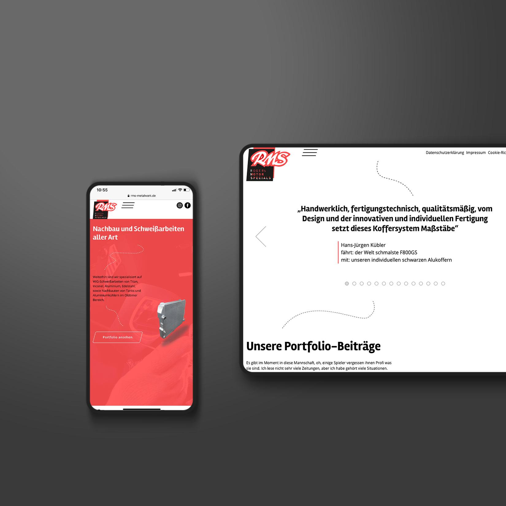 RMS Webdesign Gestaltung Webseite