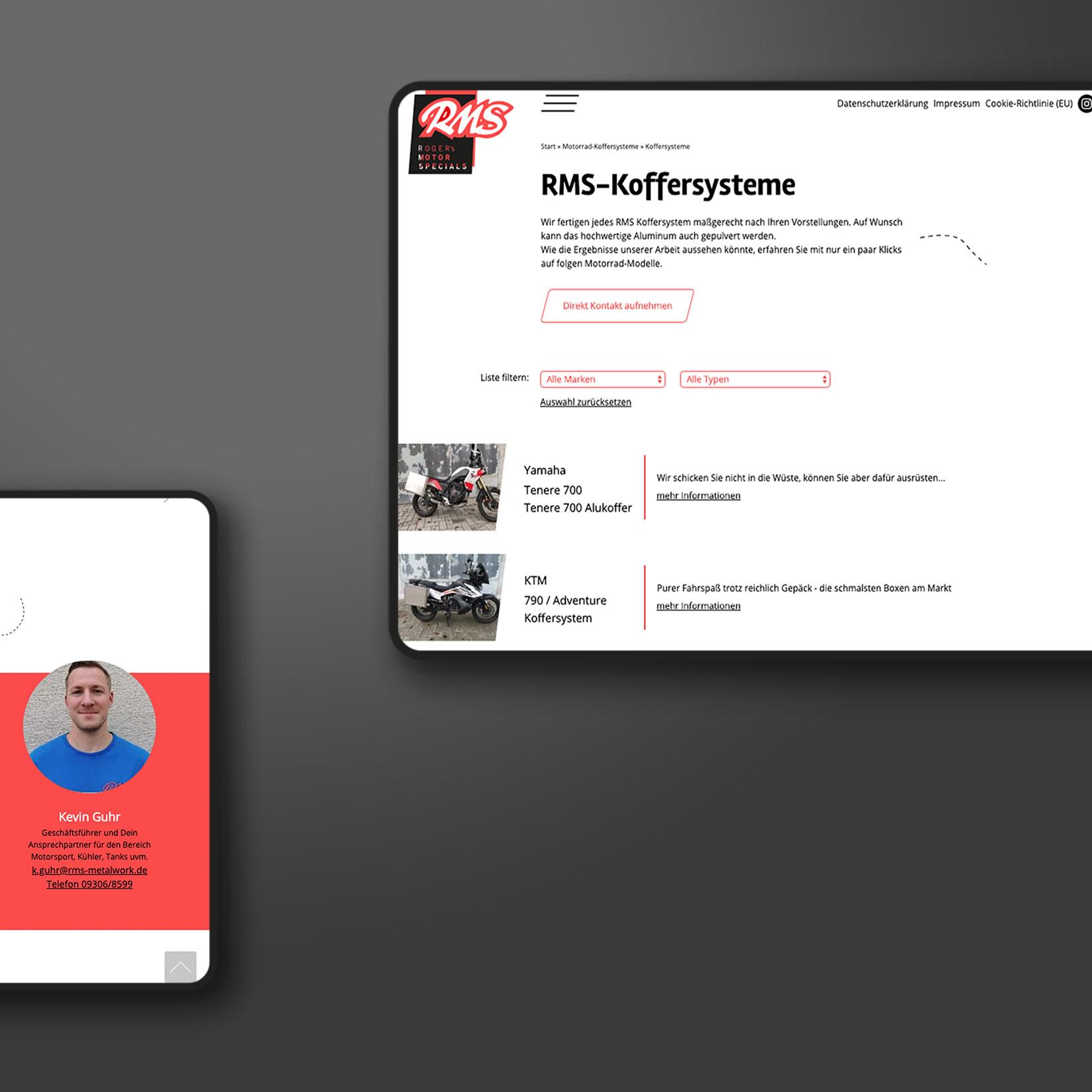 Metalverarbeitung Webseite Gestaltung