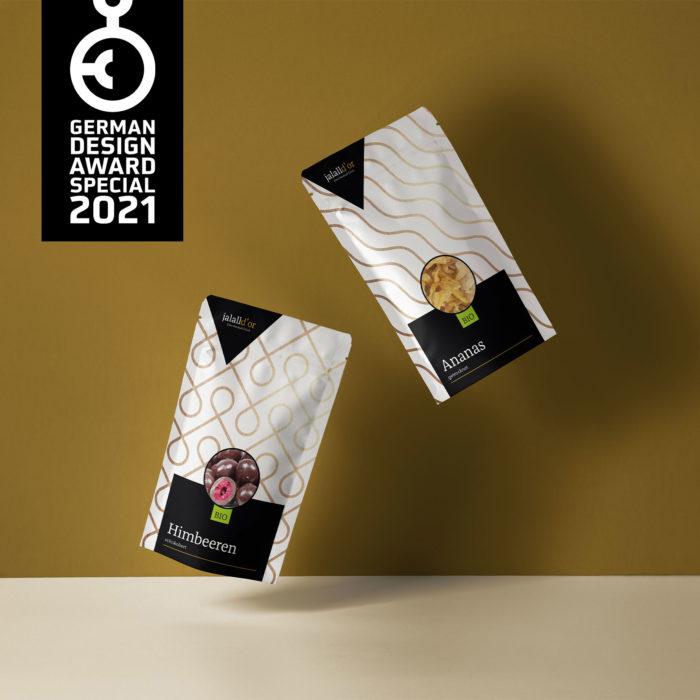 Verpackungsdesign Standbodenbeutel