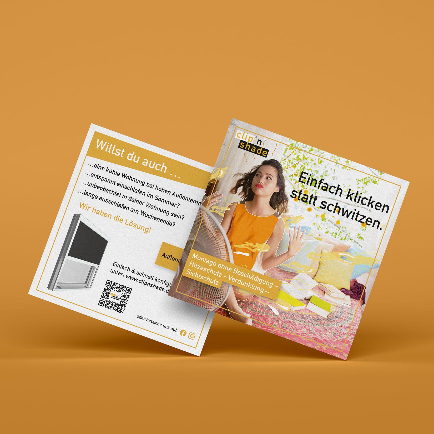 Clip'n'Shade Flyer Design