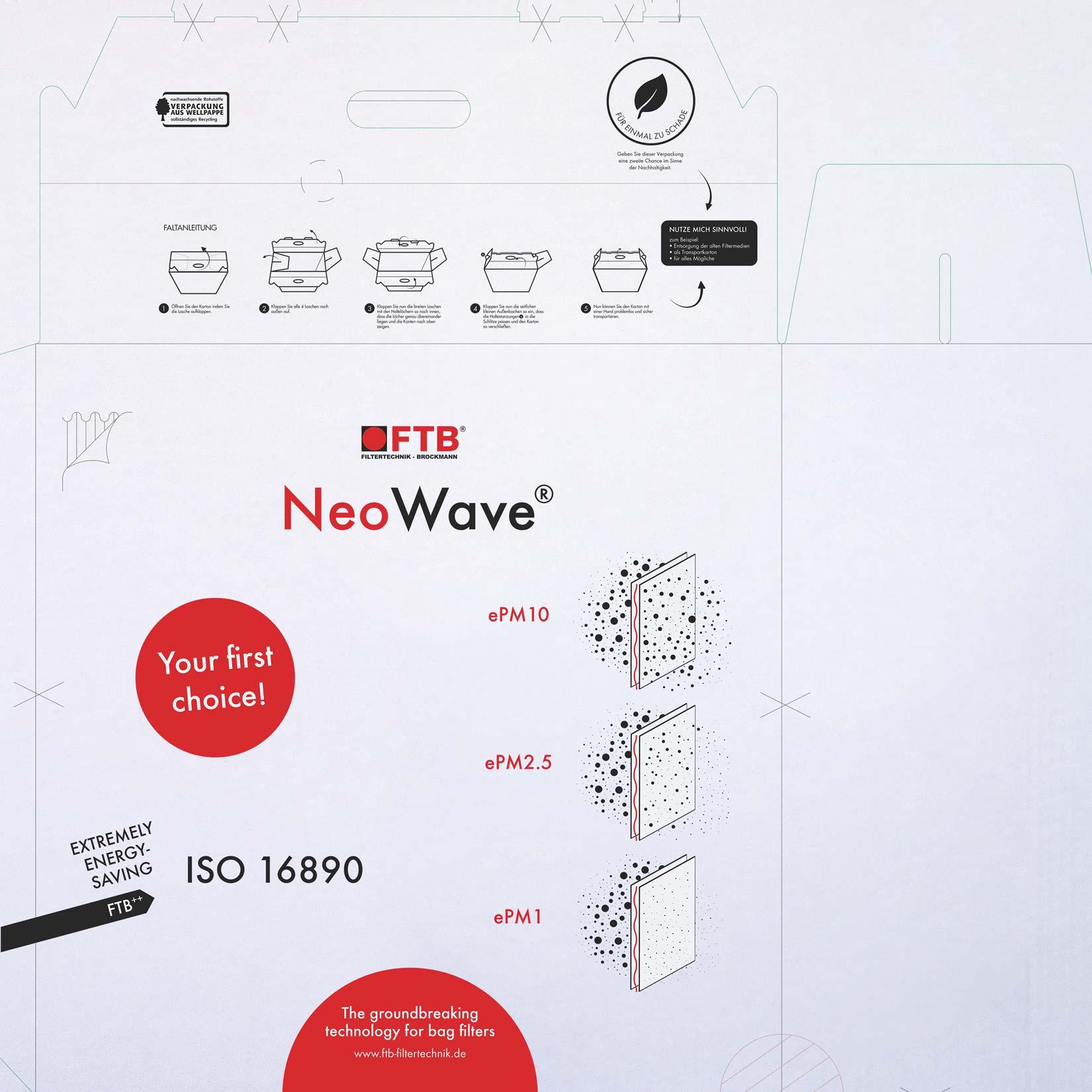 Verpackungsdesign Standskizze der neuen Gestaltung