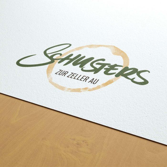Close Up Logo Schusters zur Zeller Au Würzburg