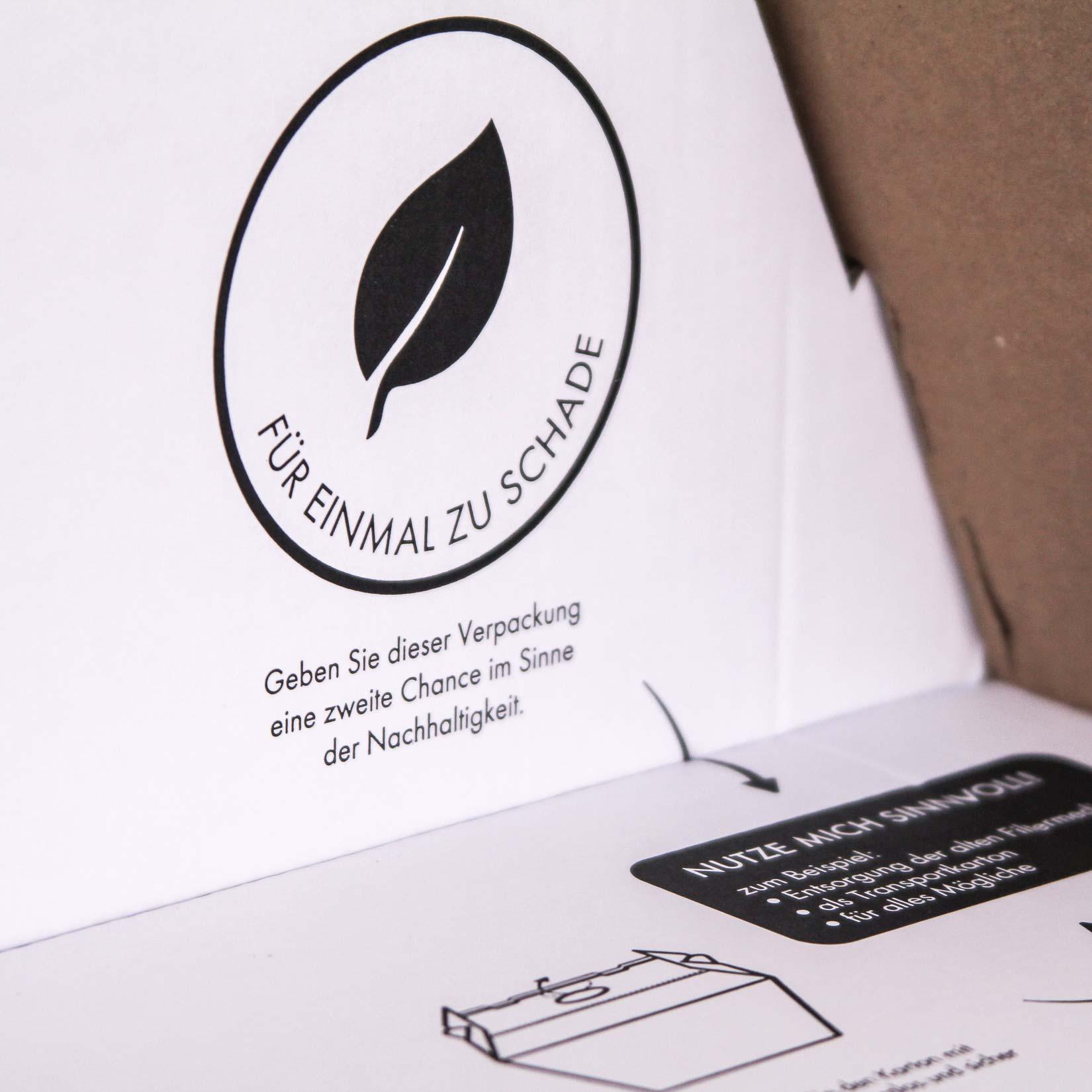Nachhaltigkeit Verpackungsdesign Gestaltung Signet