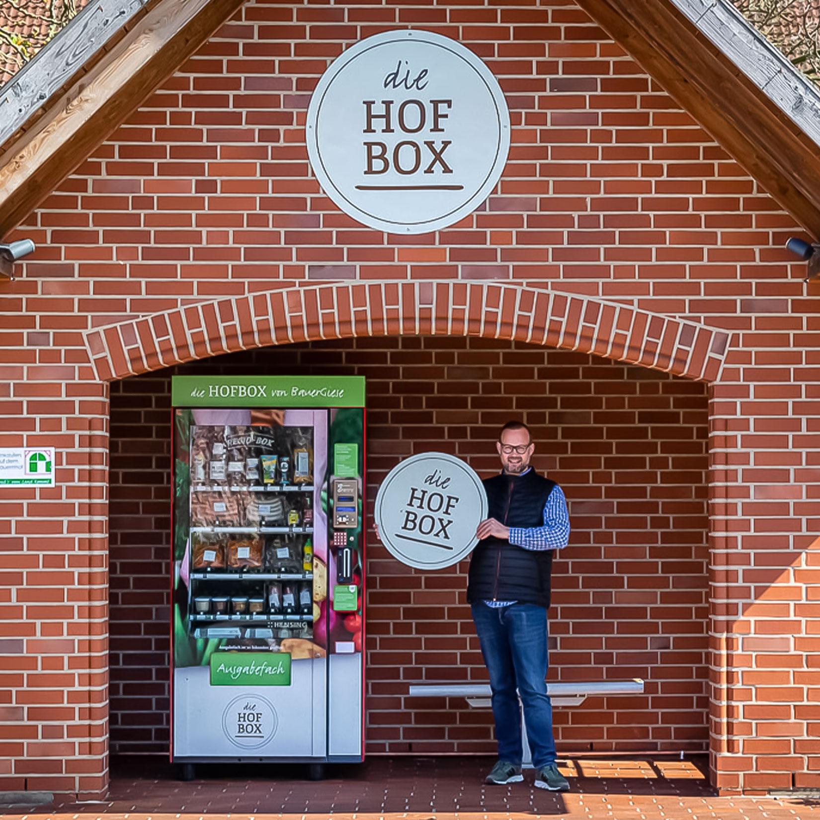 Bauer Giese Hofbox Design Schilder