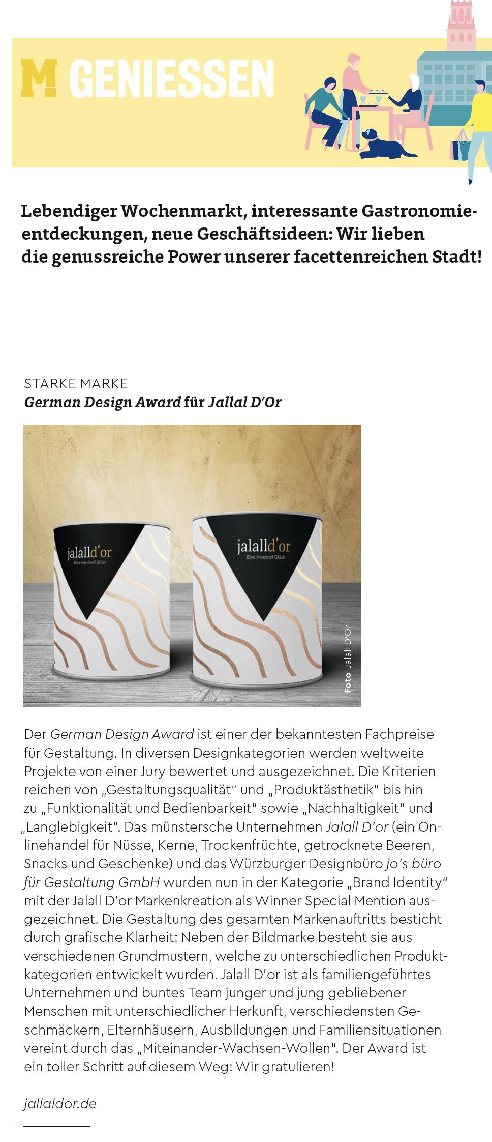 """Auszug aus dem Magazin """"Münster"""""""