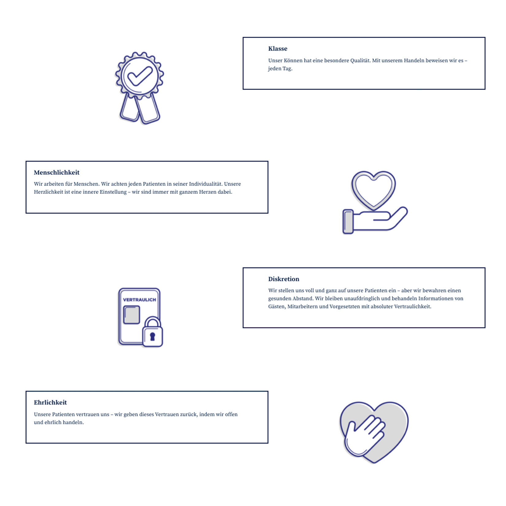 clinic excelsior Webdesign Icons