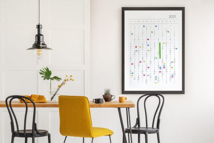Der Kalender in der Küche