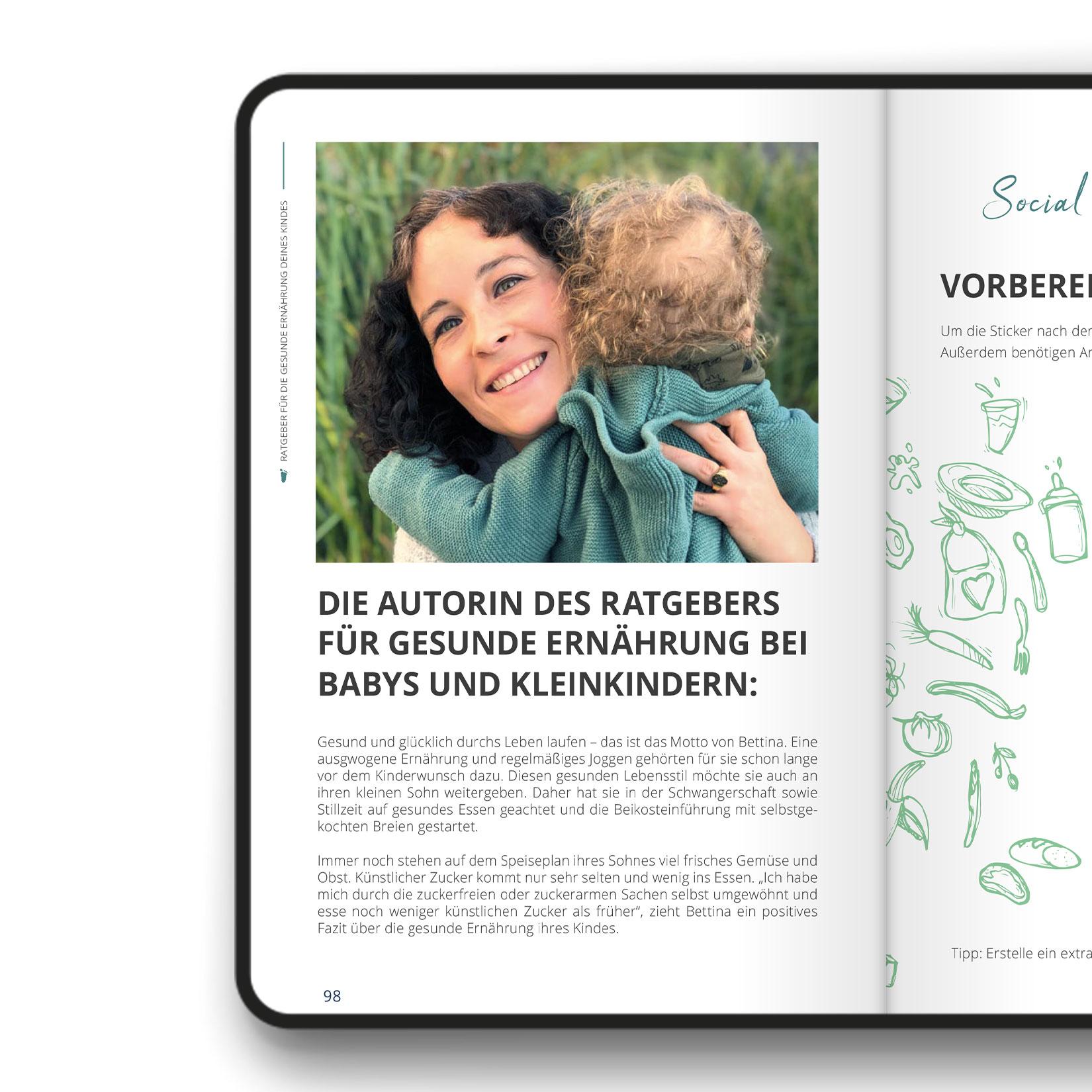 Close-Up Doppelseite Autorin e-Book