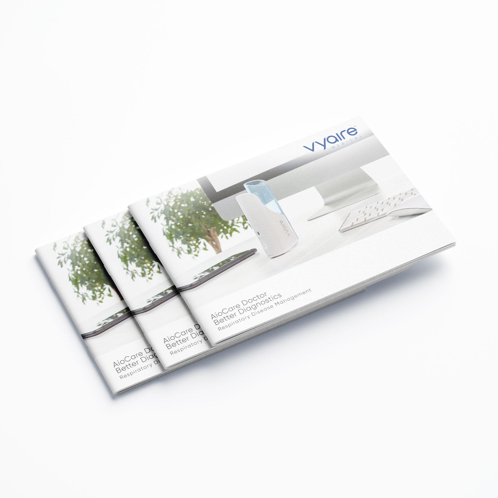 hochwertige Broschüre für Vyaire Medical AioCare