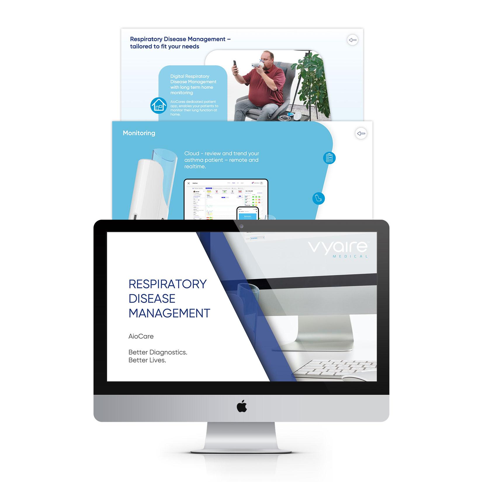Vyaire AioCare Produklaunch Sales-Präsentation