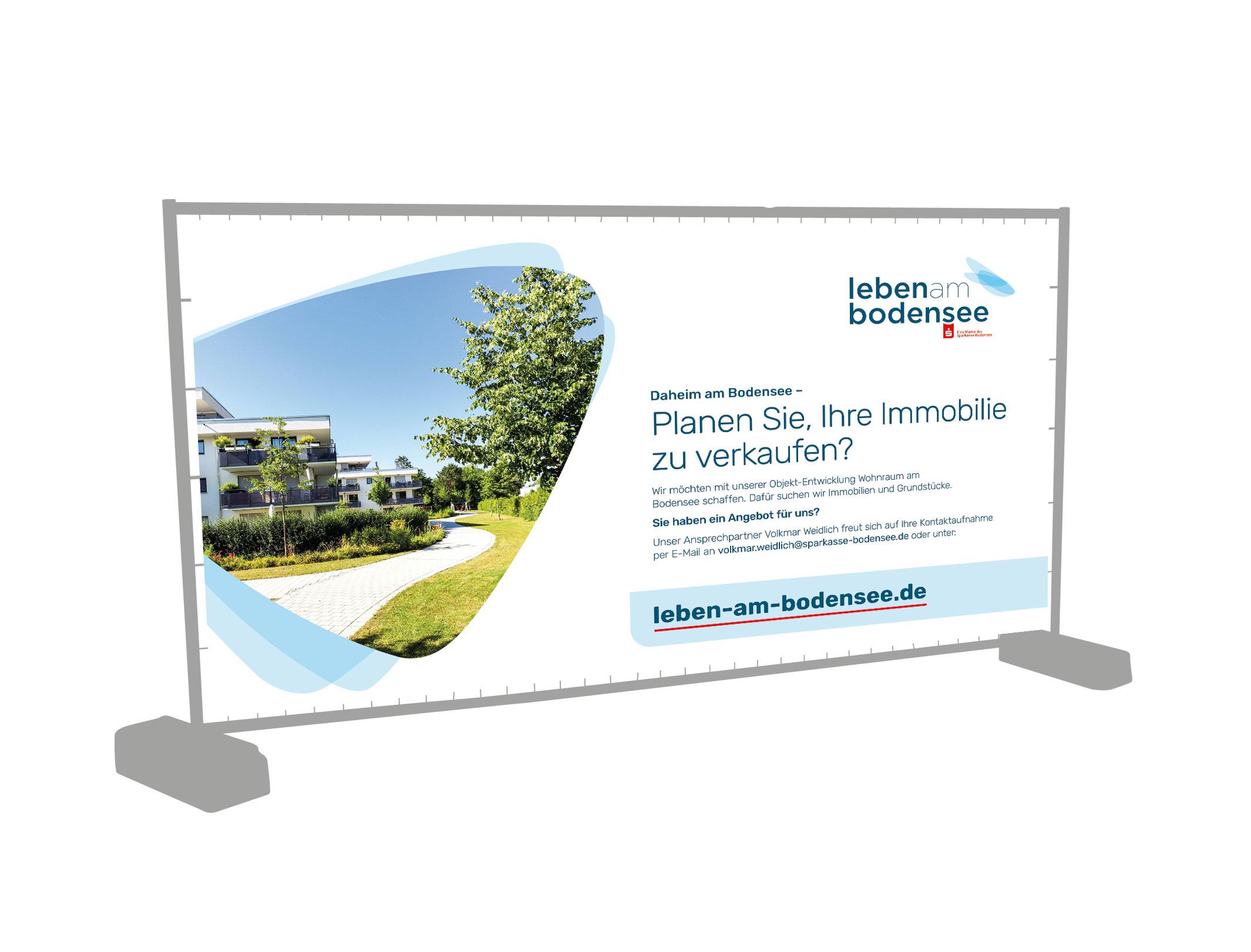 Leben am Bodensee Banner Gestaltung