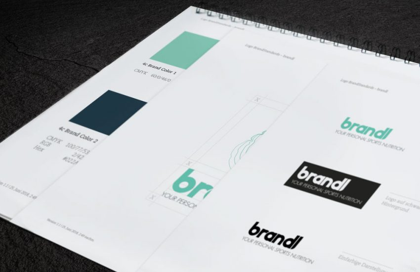 brandl – your personal sports nutrition Brandbook Styleguide Design Standards Corporate Design Packaging Verpackungsdesign Logokreation Markenentwicklung Webdesign Screendesign jo's büro für Gestaltung